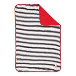 Steiff Collection Dětská deka  námořnická modř / bílá / červená