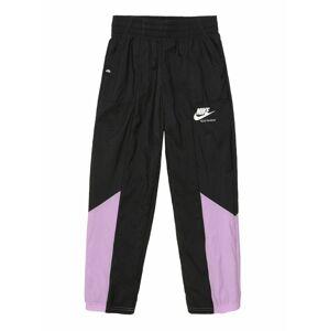 Nike Sportswear Kalhoty  bílá / černá / fialová
