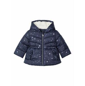 NAME IT Zimní bunda 'MELIESSA'  tmavě modrá / stříbrná