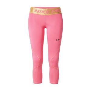 NIKE Sportovní kalhoty 'Pro Warm'  zlatá / pink / černá
