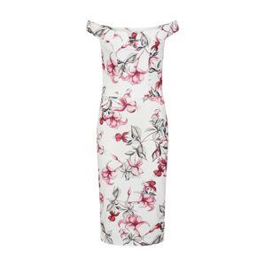 Missguided Pouzdrové šaty  růžová / bílá