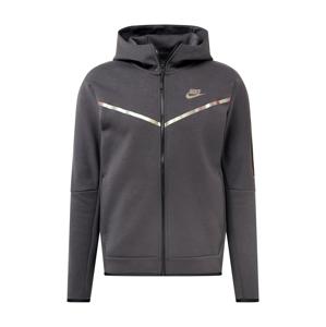 Nike Sportswear Fleecová mikina  tmavě šedá / stříbrná