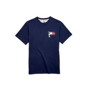Tommy Jeans Tričko 'LOONEY TUNES'  bílá / tmavě modrá / červená