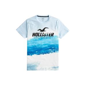 HOLLISTER Tričko  námořnická modř / světlemodrá