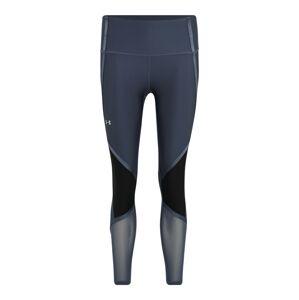UNDER ARMOUR Sportovní kalhoty 'UA HG Armour Shine Ankle Crop'  tmavě šedá / černá