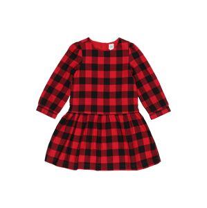 GAP Šaty 'BUFFALO DRS'  černá / červená