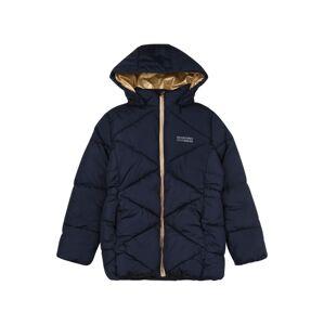 NAME IT Zimní bunda 'Milton'  tmavě modrá / zlatá