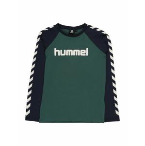 Hummel Tričko  zelená / tmavě modrá / bílá