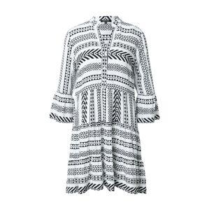 MORE & MORE Košilové šaty  bílá / černá