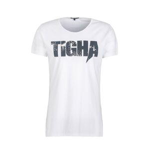 tigha Tričko  bílá / černá
