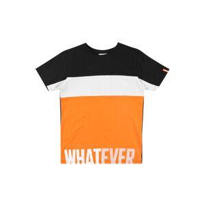 STACCATO Tričko  bílá / černá / oranžová