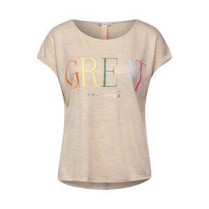 STREET ONE Tričko  hnědá / žlutá / pink / trávově zelená