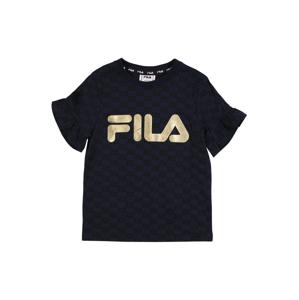 FILA Tričko 'AURORA'  černá / zlatá