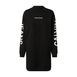 Calvin Klein Jeans Šaty  černá / bílá