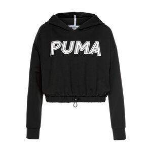PUMA Sportovní mikina  černá / bílá
