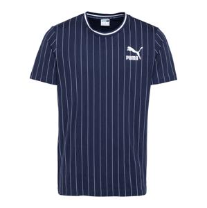 PUMA Tričko  bílá / tmavě modrá