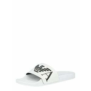 Emporio Armani Pantofle  bílá / černá