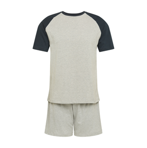 BURTON MENSWEAR LONDON Pyžamo krátké  šedý melír / noční modrá