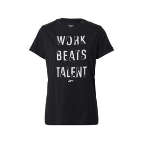 REEBOK Funkční tričko  černá / bílá
