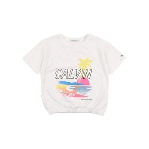 Calvin Klein Jeans Tričko 'CALVIN GRAPHIC SS T-SHIRT'  bílá