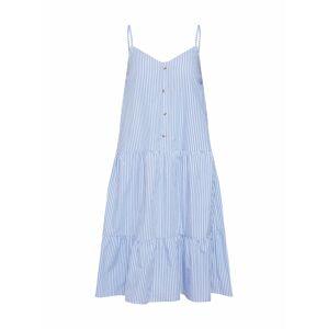 SISTERS POINT Letní šaty 'ADEL-ST.DR'  světlemodrá / bílá