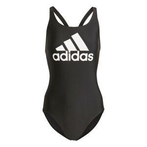 ADIDAS PERFORMANCE Sportovní plavky  černá / bílá