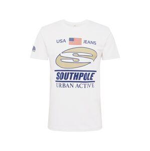 SOUTHPOLE Tričko 'Urban Active'  námořnická modř / bílá