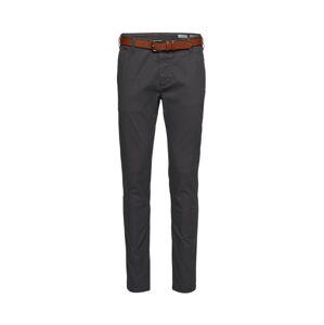 Review Chino kalhoty 'STR BELT'  rezavě hnědá / antracitová