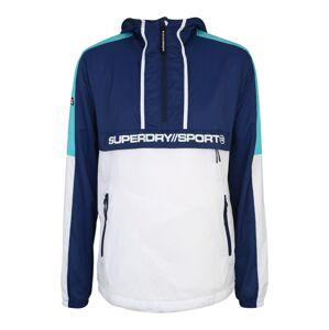 Superdry Sportovní bunda  aqua modrá / bílá / tmavě modrá