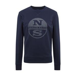 North Sails Mikina 'ROUND NECK W/GRAPHIC'  námořnická modř