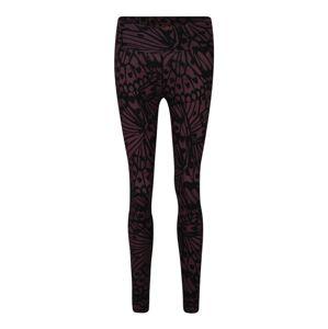 OGNX Sportovní kalhoty  černá / vínově červená