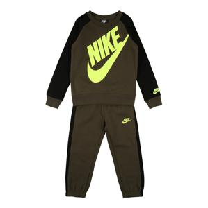 Nike Sportswear Joggingová souprava 'Futura Crew'  khaki / černá / svítivě žlutá