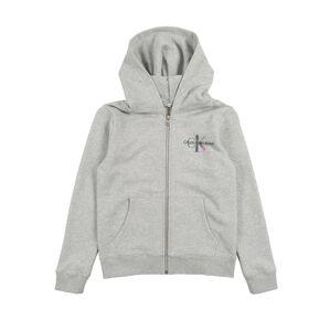 Calvin Klein Jeans Mikina s kapucí  šedý melír
