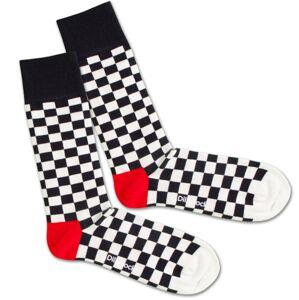 DillySocks Ponožky 'Chess And Check'  červená / černá / bílá
