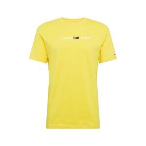 Tommy Jeans Tričko  žlutá / bílá / červená