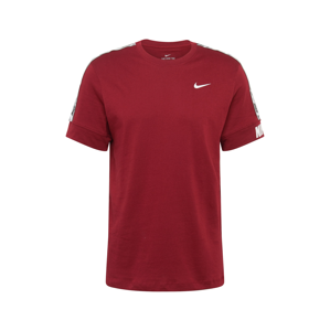 Nike Sportswear Tričko 'REPEAT '  červená / bílá