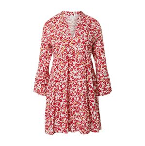 JACQUELINE de YONG Šaty  červená / offwhite
