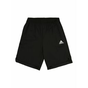 ADIDAS PERFORMANCE Sportovní kalhoty  černá / bílá