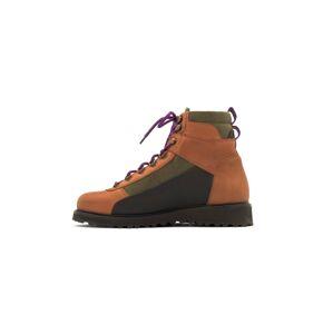 EKN Footwear Kotníkové tenisky 'Pine'  hnědá / černá / khaki