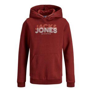 Jack & Jones Junior Mikina  krvavě červená / bílá