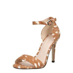 Bianco Páskové sandály  světle hnědá