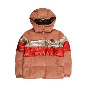SCOTCH & SODA Zimní bunda  červená / lososová / zlatá