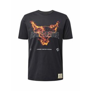 UNDER ARMOUR Funkční tričko 'Rock Fire'  černá / bílá / tmavě oranžová