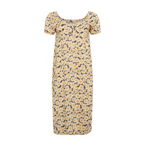 Cotton On Curve Letní šaty  černá / bílá / žlutá