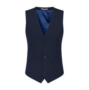 BURTON MENSWEAR LONDON Vesta k obleku  námořnická modř / bílá