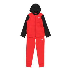 Nike Sportswear Joggingová souprava  červená / černá / bílá