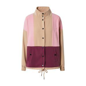 ICHI Přechodná bunda  béžová / pink / bobule