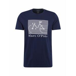Marc O'Polo Tričko 'Organic'  bílá / tmavě modrá