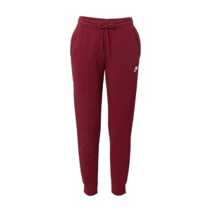 Nike Sportswear Kalhoty  vínově červená / bílá