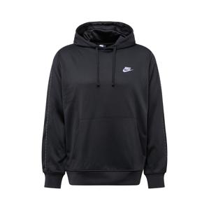 Nike Sportswear Mikina 'REPEAT'  černá / stříbrně šedá